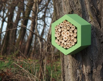 BEE HOTEL, Insect house, Mason bee home - Hotel Avocado