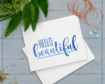 "Carte ""Hello Beautiful"""