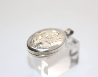 Victorian Sterling Silver Locket Pendant, Old Antique, with space for 2 photos Antique Vintage Jewelry