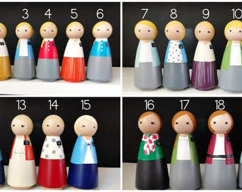 LDS Missionary Peg Dolls - Sisters, Non-Custom