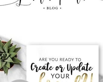 235 - Lana Pine, LOGO Premade Logo Design, Branding, Blog Header, Blog Title, Boutique, Script, Text, Font, Writing, Written, Blogger, Flowy