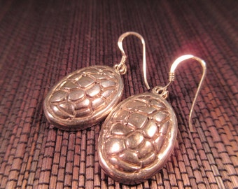 Cool Textured Sterling Silver Earrings