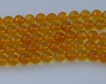 1 natural 12mm yellow Citrine beads