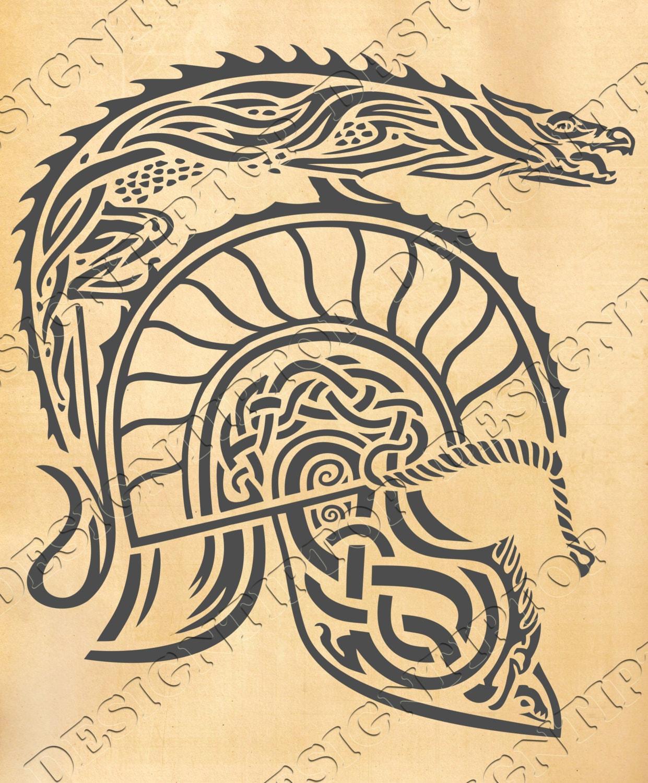 Viking\'s helmet, vikings SVG, celtic knot, helmet svg, dxf ...
