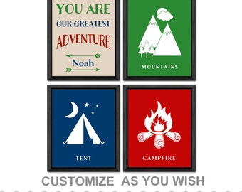 outdoor baby shower, camping baby shower, camping kids decor, mountain baby, adventure nursery decor, camping personalized, camping decor