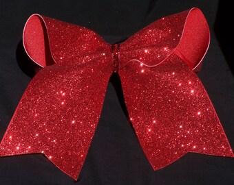 Red GlitterCheer Bow Big Cheer Bow Custom Cheer Bow