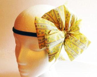 Headband, Yellow Bow Headband, Ladies Headband, Teen Headband, Girls Fancy Headband, Woman's Headband, Womans Headband, Headband  FH65