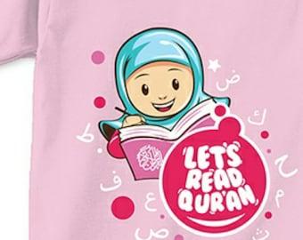 Girls Muslim shirt Tshirt, Cotton Tshirt, Kids Tshirt, Long Sleeves Tshirt, Pink Tshirt, Toddler Tshirt