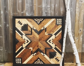 Reclaimed wooden wall panel/art