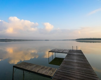 Foggy Morning Dock 8x10 Photograph