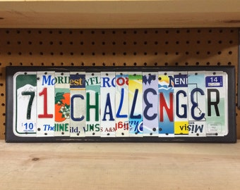 CHALLENGER Custom Recycled LICENSE Plate Art Sign Dodge Challenger