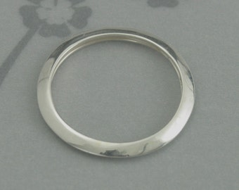 Silver Spacer Ring--Sterling Silver Knife Edge Band--Great Spacer Band--Womens Wedding Band--Sterling Silver High Polished Wedding Ring