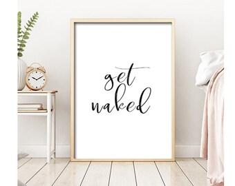 Get Naked Sign Bathroom Rules, Get Naked Print,Bathroom Wall Decor,Scandinavian Art,Modern Bathroom Print,Bathroom Wall Art,Quote Bathroom