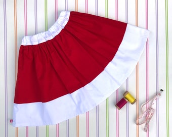 Christmas skirt, red girls skirt, girls party skirt, girls everyday skirt, girls skirt, Christmas gift, gifts for kids, elf skirt, gift