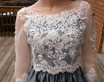 Lace wedding bolero, Ivory/white wedding bolero, lace wedding jacket