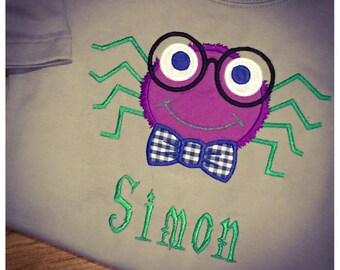 Mr. Spider Halloween Applique Shirt