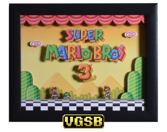 Super Mario All Stars Shadow Box Super Mario Bros 3 SNES