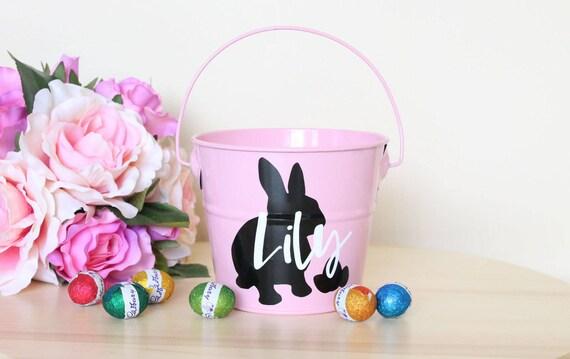 Easter basket australia personalised easter bucket easter easter basket australia personalised easter bucket easter egg hunt easter gift custom tin egg hunt bucket easter bunny easter tin negle Choice Image