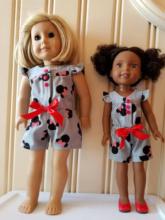 Mnnie  Mouse  Rompers for  Wisher Wisher Dress or American Girl Doll