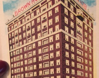 Brown Hotel Fourth And Keo Des Moines Iowa Posted Vintage Postcard