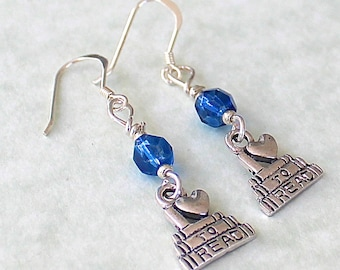 Book Earrings - Love to Read Gift - Book Jewelry - Book Club Gift - Book Club Earrings - Book Club Jewelry - Love to Read Earring Blue E188