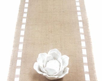 Mother's Day Elegant Table Runner with Double Face Satin Ribbon - Rustic Modern Table Decoration - Elegant Homes/Weddings