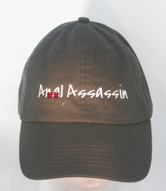 An#l Assassin (Polo Style Ball Black with White Stitching)