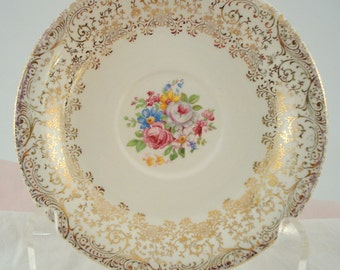 Vintage Saucer Royal China Rose Glory Pattern Pink Rose Saucer Dessert Plate Vintage Wedding