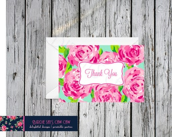 Lilly Pulitzer First Impression Folded Thank You Note Card