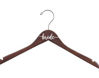 9 Personalized Hangers - bride - bridesmaid