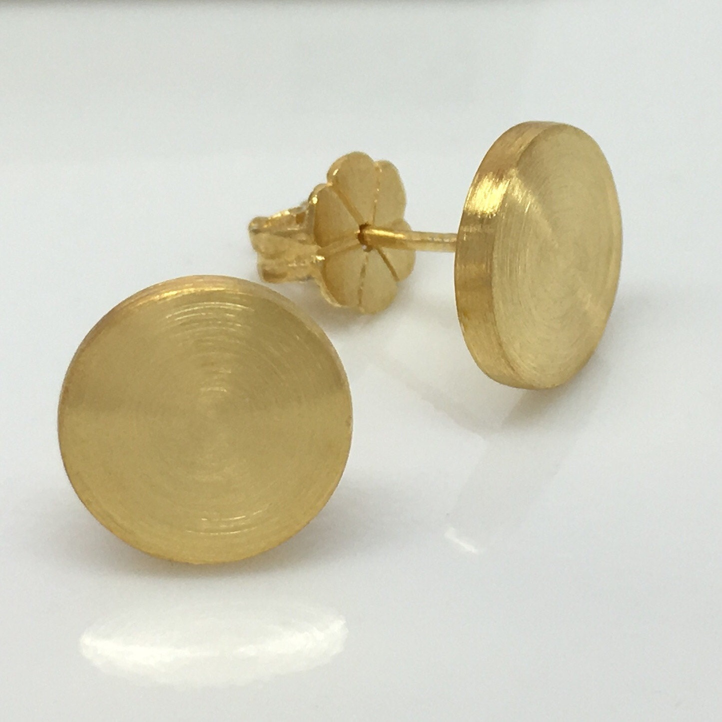 medium hoop small disc gold whistles stud women flat sale accessories earring