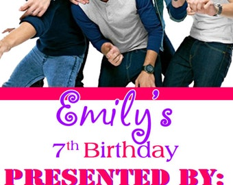 ONE DIRECTION Concert Ticket Birthday Invitation - PRINTABLE!