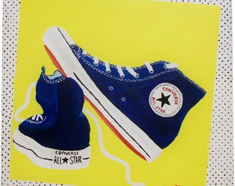 Converse ALL STAR Acrylic painting 40x40 CM