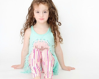Girls leggings - girls striped leggings - leggings for girls - baby leggings - leggings for toddlers - toddler leggings