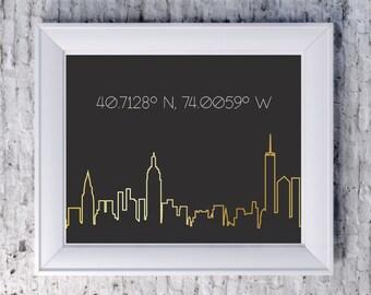 Personalized City Skyline