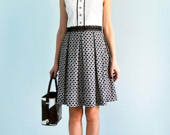 Black and white dress Cotton dress Dolly dress