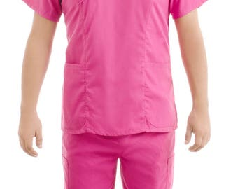 Pink Medical Scrub Uniform Sets