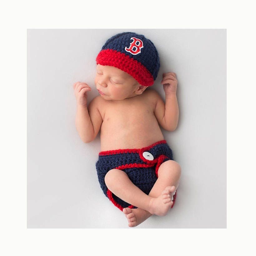 Baby Boy Outfit Boston Red Sox Baby Boy Clothes Knitted Hats