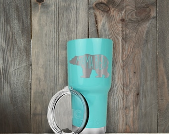 RTIC Tumbler/20oz or 30oz/Engraved/Mama Bear/Bear/Mom/Mama/Mother/Mother's Day/Gifts for Her/Gifts for Mom/Laser Engraving/Fast Shipping