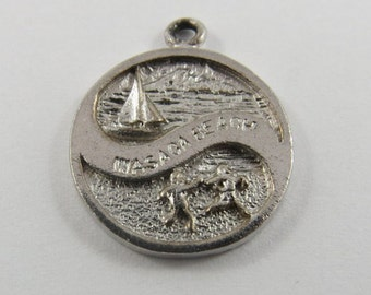 Wasaga Beach Ontario Canada Sterling Silver Charm or Pendant.