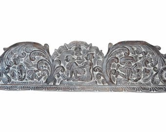 Vintage Indian Eclectic UNIQ Headboard Handcarved Love Kamsutra RESORT bOUTIQUE Interior Design Decor 72X18