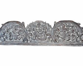 Vintage Indian Eclectic UNIQ Headboard Handcarved Love Kamsutra RESORT bOUTIQUE Interior Design Decor 72X18