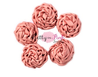 Rust MINI Isabella Collection Ruffled Rosettes- You Choose Quantity- Rolled Rosettes- Rolled Rosettes- Rosettes- Flower- Supply DIY
