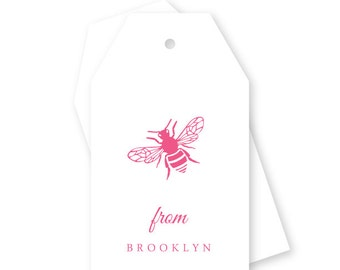 Personalized Bumble Bee Gift Tags