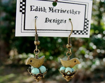 Nesting Bird Earrings