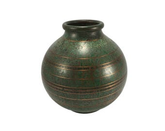 Carl Sorensen Verdigris Bronze Vase
