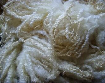 BLUEFACED LEICESTER (BFL) Washed Natural White - Fleece/Fibre/ Fiber - British Wool  - Spinning Knitting Felting - Doll Hair - 250g / 8.8 oz