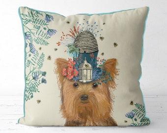 Yorkie Dog gift Yorkshire terrier pillow Yorkie cushion Yorkshire terrier cushion Yorkie pillow Milliners dog Yorkshire terrier dog pillow