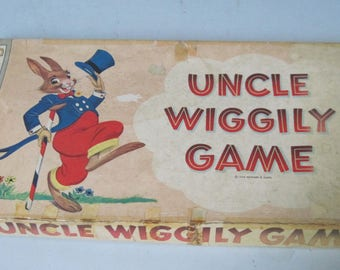 Vintage 1954 Milton Bradley Uncle Wiggily Board game