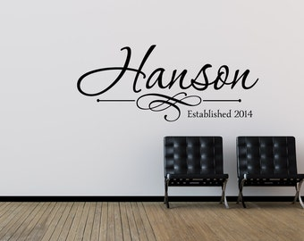 Family Name Wall Decal - Personalized Family Wall Decal - Last Name Wall Decal - Vinyl Wall Decal - Family Vinyl Lettering
